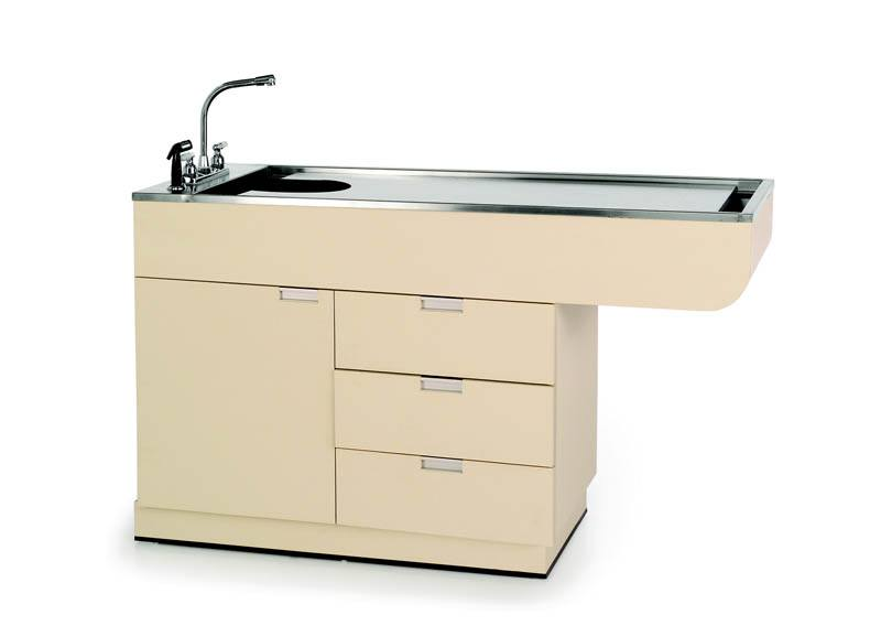 "VetLine All-Purpose Wet Table with Knee Space and Cabinet Storage and Drawers - 60"" & 48"" Length"