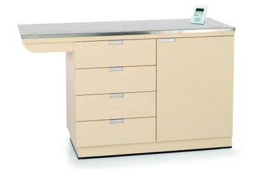 "VetLine Veterinary 42"" Exam Table with built-in Weight Scale and Storage Drawers"