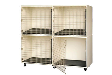 PetLift Veterinary & Grooming Pet 4 Cage Bank