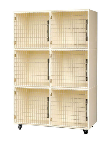 PetLift Veterinary & Grooming 6 Pet Cage Bank