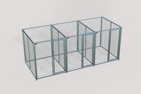TK Products Pro-Series Enclosed Multi-Dog Kennel - Indoor/Outdoor Wire Kennel