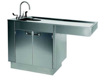 "VetLine Stainless Steel 60"" Veterinary Wet Table with Storage"