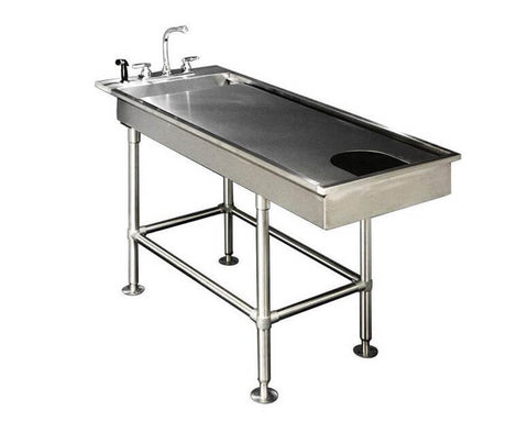 VetLine Low-Profile Multi-Purpose Stainless-Steel Wet Table - 60""