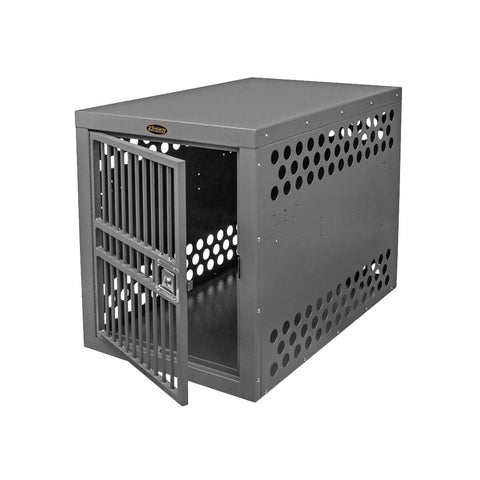 Zinger Deluxe Aluminum Dog Travel Crate front entry 10-DX-4500-2-FD
