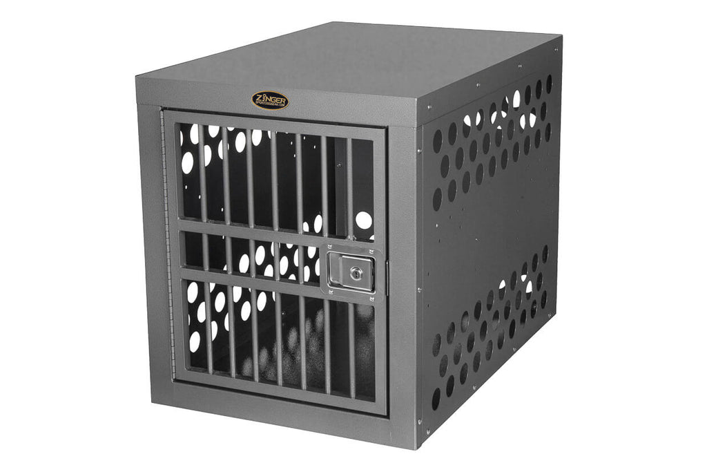 Zinger Deluxe Front Entry Aluminum Dog Travel Crate Front Image