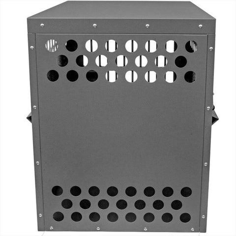 Zinger Deluxe Airline Compliant Aluminum Dog Travel Crate IATA CR 82 10-DX4000-2-AR back view
