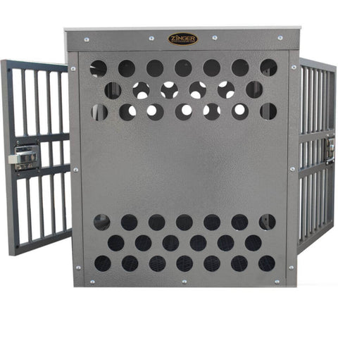 Zinger Deluxe Side/Side Entry Aluminum Dog Travel Crate