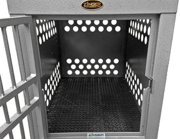 Zinger Drain Thru Rubber Flooring Crate Mat installed 10-AC-DTF-4000