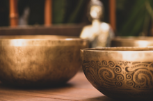 Load image into Gallery viewer, Tibetan Lotus Feet Singing Bowl - 10""