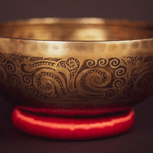 Tibetan Lotus Feet Singing Bowl - 10""