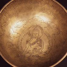 Load image into Gallery viewer, Tibetan Medicine Buddha Singing Bowl - 10""