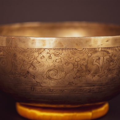 Tibetan Sacred Geometry Singing Bowl - 11
