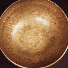Load image into Gallery viewer, Tibetan Sacred Geometry Singing Bowl - 11""