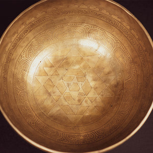 Tibetan Sacred Geometry Singing Bowl - 11""