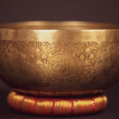 Tibetan Shell Of Hope Singing Bowl - 9.5