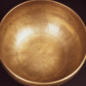 Tibetan Shell Of Hope Singing Bowl - 9.5""
