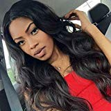 Peruvian Hair Body Wave Wigs 100% Human Hair Wig Remy Hair Lace Front Wig With Baby Hair Body Weave Wigs (24Inch) For Black Women Human Hair Natural Color