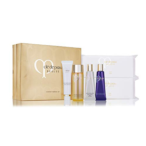 Cle De Peau Beaute Essential Radiance Set Full Size Limited Edition In Gold Gift Box