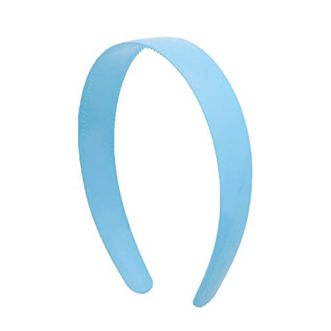 Light Blue 1 Inch Plastic Hard Headband With Teeth Head Band Women Girls (Motique Accessories)