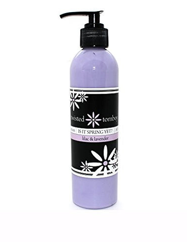 Lilac &Amp; Lavender Nourishing &Amp; Moisturizing Aloe Lotion 'Is It Spring Yet?' - Perfect For Dry Hands, Face And Body Handmade In The U.S.A.