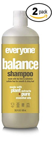 Eo Everyone Sulfate Free Balance Shampoo  With Coconut Fruit Extract, Orange Peel Oil, Organic Aloe Barbadensis Leaf And Matricaria Flower Extract, 20 Fl. Oz.