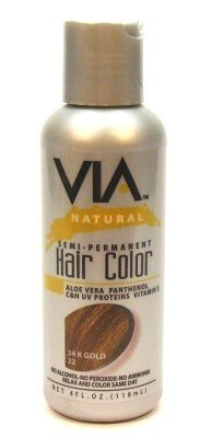 Via Natural Semi Perm Color # 22 24K Gold 4 Oz.  With Free Nail File
