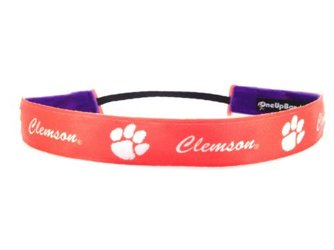 One Up Bands Women'S Ncaa Clemson University Team Purple/Orange One Size Fits Most
