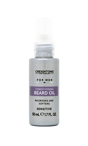 Creightons For Men. Conditioning Beard Oil. A Nourishing Blend Of Apricot, Avocado And Jojoba Oils. Nourishes And Softens Sensitive Skin. 1.7 Fl Oz