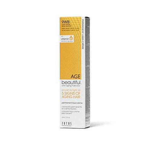 Agebeautiful 9Wb Light Warm Beige Blonde Liqui-Creme Permanent Haircolor 9Wb Light Warm Beige Blonde