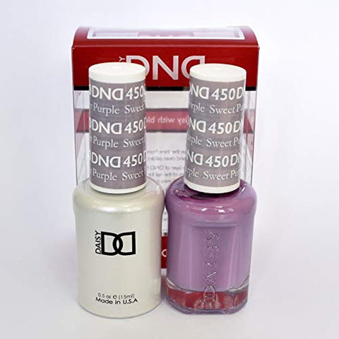 Dnd Soak Off Gel Polish Dual Matching Color Set 450, Sweet Purple