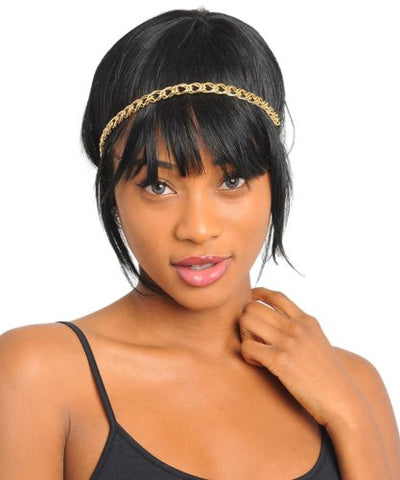 Fashion Trendy Gold Chain Headband/Head Chain For Women / Azfjhb005-Gld