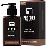 New Beard Oil Lotion For Thicker Facial Hair Grooming | 100Ml - The All-In-1 Conditioner And Shampoo-Like Softener, Shine And Fuller Beards/Mustache Growth - Nuts-Free &Amp; Vegan! Prophet And Tools