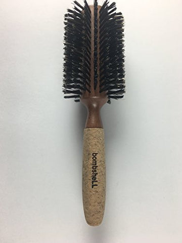 Bombshell Blowout Hair Brush Classic Round Sustainable Wood, Cork Handle, Boar Bristle (Xlarge 3.25 Inch) 3.8 Ounce