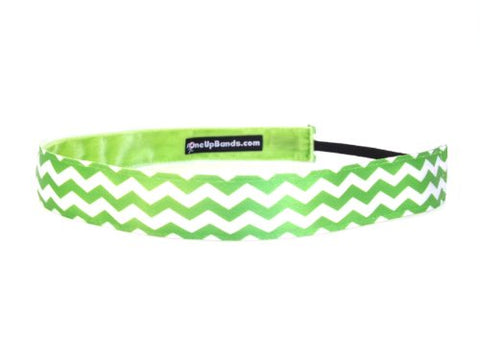 One Up Bands Women'S Chevron Lime One Size Fits Most Double