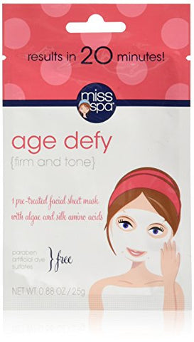 Miss Spa Age Defy Facial Sheet Mask, 0.88 Ounce