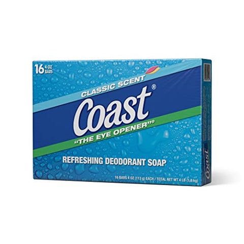 Coast Classic Original Scent Bar Soap - 4 Ounce (16 Bars)