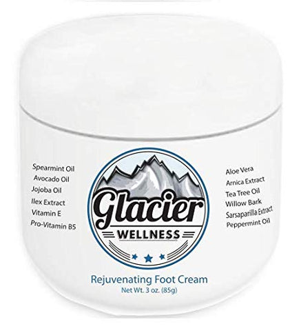 Natural Foot Cream For Dry, Cracked Feet - Natural Avocado, Jojoba, Tea Tree And Peppermint Oil - Natural Arnica And Shea Butter For Softness And Pain Relief