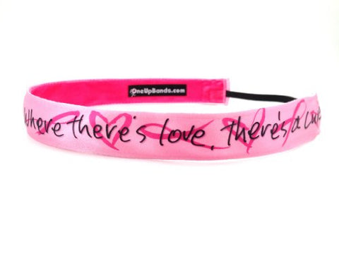 One Up Bands Women'S Sally Huss Where There'S Love There'S A Cure One Size Fits Most