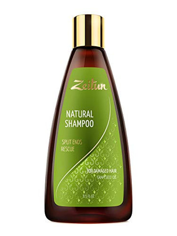 Zeitun Sulfate Free Shampoo For Dry Hair - Hair Repair Treatment For Damaged Hair - Split End Repair - Grapeseed Oil 8.5 Oz