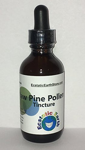 100% Organic Pine Pollen Tincture ~ 2 Ounce Bottle ~ Raw Pine Pollen