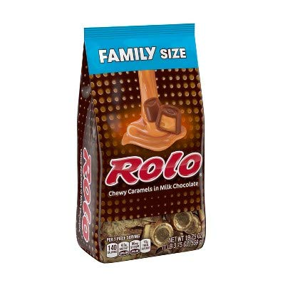 Rolo Chewy Caramels In Milk Chocolate Family Bag - 19.75Oz
