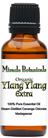 Miracle Botanicals Organic Ylang Ylang Extra Essential Oil - 100% Pure Cananga Odorata (Extra) - 5Ml, 10Ml, Or 30Ml Sizes - Therapeutic Grade 30Ml/1Oz.
