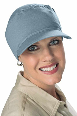 Softie Cancer Cap For Women In Chemotherapy Denim Chambrey
