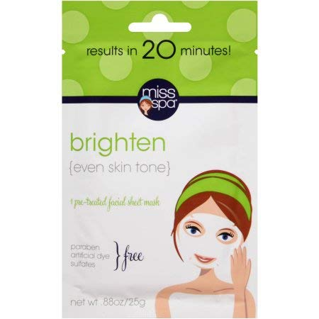 Miss Spa Brighten Pre-Treated Facial Sheet Mask