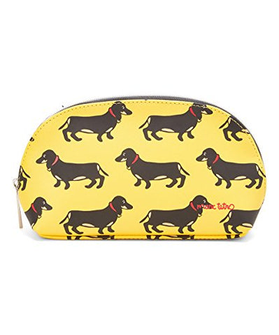 Marc Tetro Cosmetic Bag (Yellow Dachsund)