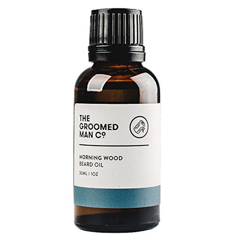 The Groomed Man Co Morning Wood Scented Premium Beard Oil - 100% All Natural Essential Oils With Organic Argan And Jojoba Oils - 1Oz