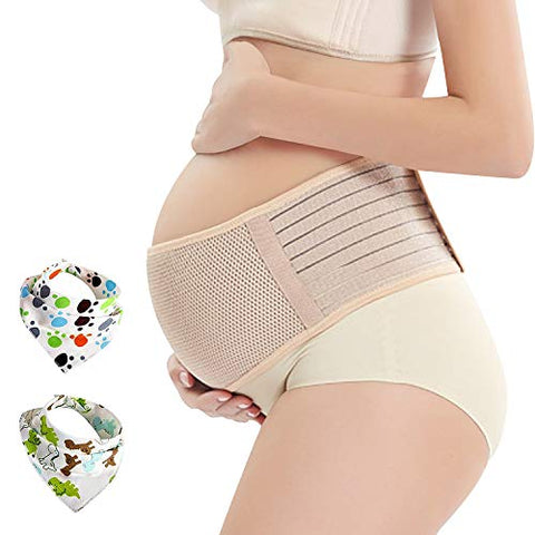 Pregnancy Belt, Maternity Belly Support Band, Breathable Abdominal Binder Brace, Relieve Hip, Pelvic, Lumbar &Amp; Lower Back Pain, Comfortable Prenatal Cradle For Baby, Adjustable Size