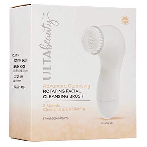 Ulta Beauty Advanced Cleansing Rotating Facial Cleansing Brush Mini 2 Speeds Exfoliating Set