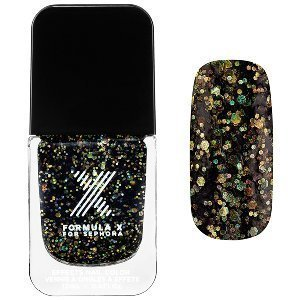 Superwatts Nail Polish Formula X For Sephora 0.4 Oz Explosive - Black Rainbow Mega-Glitter