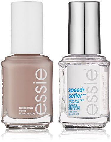 Essie Speed.Setter Top Coat &Amp; Nail Polish Kit, Wild Nude